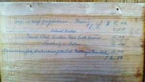 cabinet maker paper label