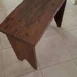 Southern Yellow Pine Wooden Bench