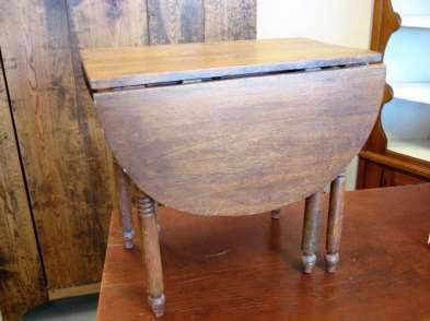 Miniature Country Sheraton Drop Leaf Table