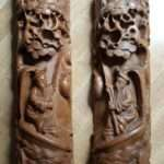 Pair of Chinese Map or Scroll Weights