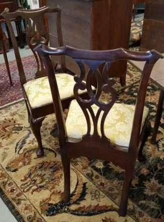Robert Walker Chippendale side chairs