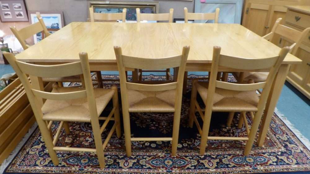 Dining Room Set W  Chairs China Cupboard Buffet