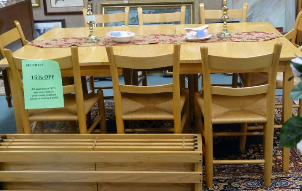 ... Two Pictures With The Blonde Oak Dining Room Set Are The E A Clore Set.  Enjoy. For Descriptions And Prices Please Scroll Down To The Bottom Of The  Page.