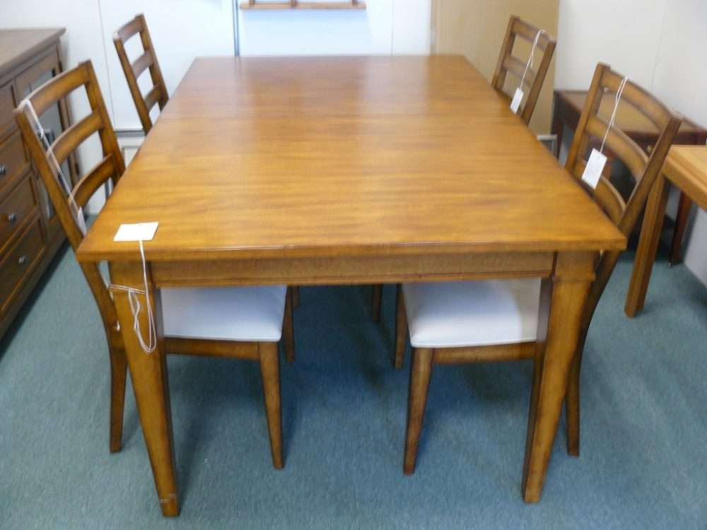 Ethan Allen Dining Room Set U2013 Table, Extension, Four Chairs And A Buffet  (Not Pictured), $1800.00, Booth 42.