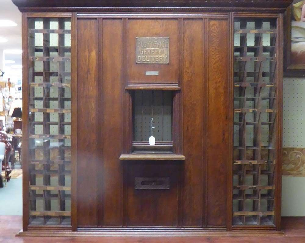 Elegant Old Post Office Window/Teller, Antique Thread Display And More!