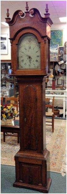 Benjamin Morris Of Hilltown, Pennsylvania Tall Case Clock